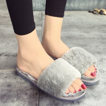 European Style Lady Slippers Warm Plush Autumn And Winter Indoor Home Cotton Slippers - 36 36