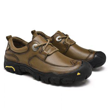 Outdoor Shoes Men'S Leisure Shoes Leather Shoes Wide Head Men'S Shoes - KHAKI 44