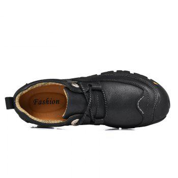Outdoor Shoes Men'S Leisure Shoes Leather Shoes Wide Head Men'S Shoes - BLACK 44