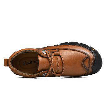 Outdoor Shoes Men'S Leisure Shoes Leather Shoes Wide Head Men'S Shoes - BROWN 46