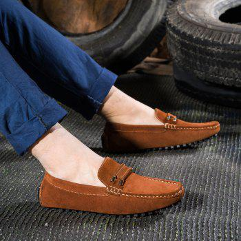 Men'S Driving Shoes Doug Shoes Casual Shoes Soft Bottom Comfort - BROWN 44