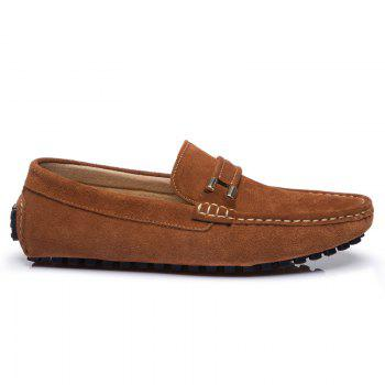 Men'S Driving Shoes Doug Shoes Casual Shoes Soft Bottom Comfort - BROWN 43
