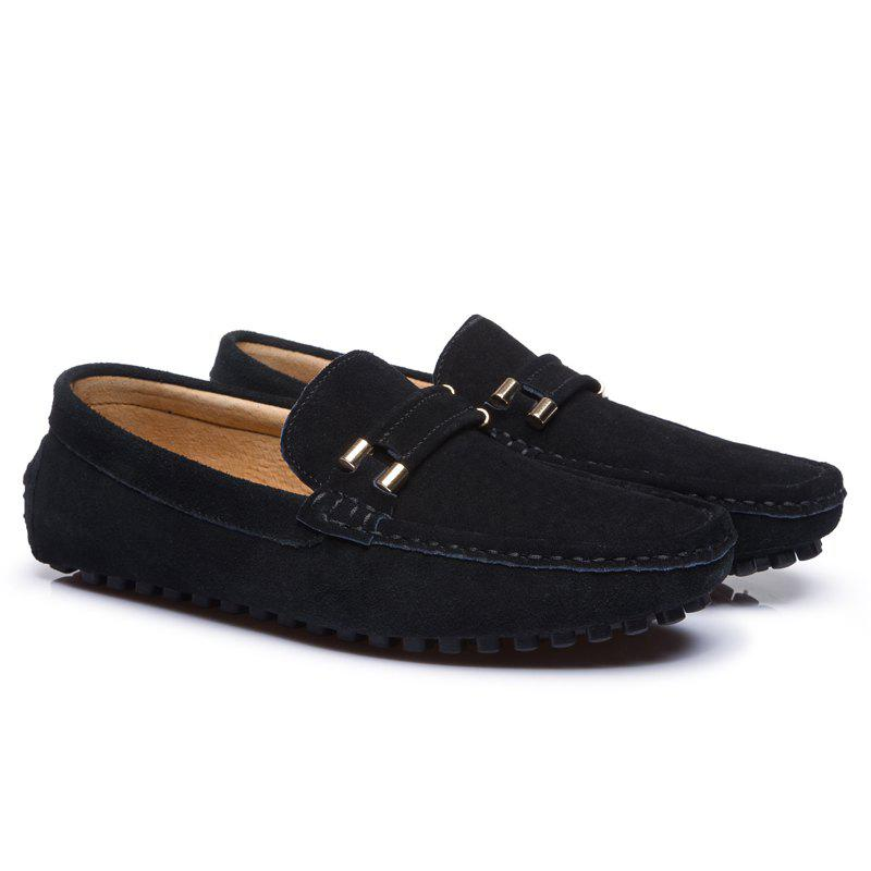 Men'S Driving Shoes Doug Shoes Casual Shoes Soft Bottom Comfort - BLACK 46