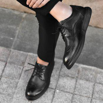 Black Leather Shoes Men'S Bullock Carved Leather Shoes Leather Men'S Shoes Business Leather Shoes - 41 41
