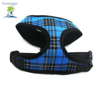 Lovoyager LVC1705 Soft Mesh Breathable Pet Dog Harness Vest and Adjustable Collar - BLUE M