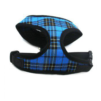Lovoyager LVC1705 Soft Mesh Breathable Pet Dog Harness Vest and Adjustable Collar - BLUE BLUE