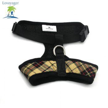Lovoyager LVC1705 Soft Mesh Breathable Pet Dog Harness Vest and Adjustable Collar - YELLOW YELLOW