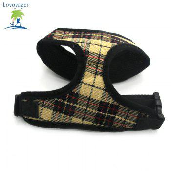 Lovoyager LVC1705 Soft Mesh Breathable Pet Dog Harness Vest and Adjustable Collar - YELLOW M