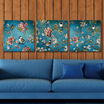 DYC 10072 3PCS Birds and Flowers Print Art Ready to Hang Paintings - COLORMIX COLORMIX
