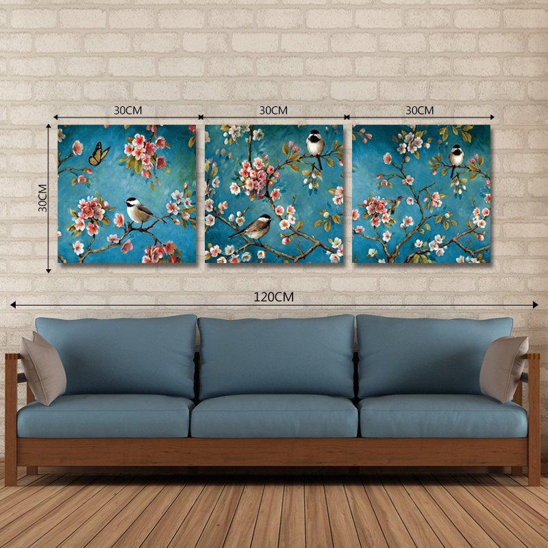 DYC 10072 3PCS Birds and Flowers Print Art Ready to Hang Paintings - COLORMIX