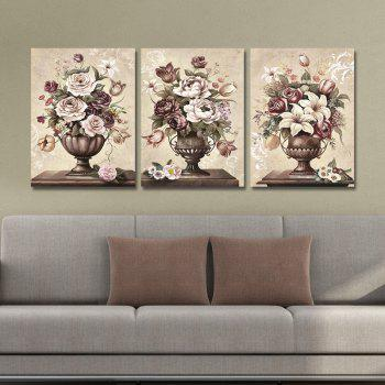 DYC 10077 3PCS Flowers in Vase Print Art Ready to Hang Paintings - COLORMIX COLORMIX