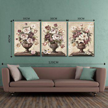 DYC 10077 3PCS Flowers in Vase Print Art Ready to Hang Paintings -  COLORMIX