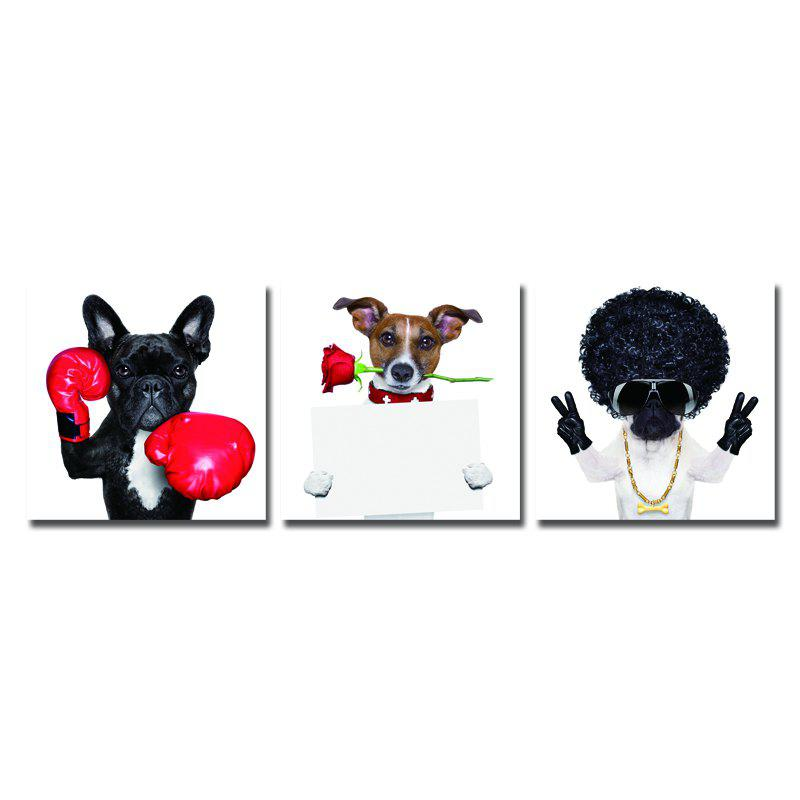 DYC 10078 3PCS Animals Print Art Ready to Hang Paintings - COLORMIX