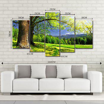 DYC 10085 5PCS Landscape Canvas  Print Art -  COLORMIX