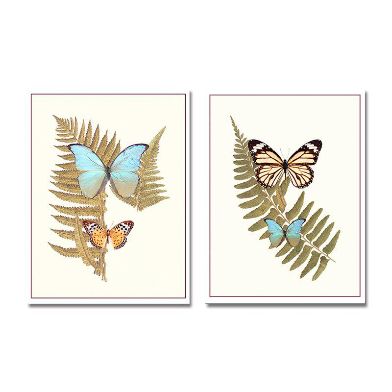 DYC 10151 2PCS Butterflies Print Art Ready to Hang Paintings - COLORMIX