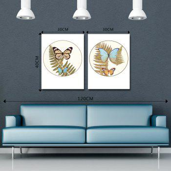DYC 10152 2PCS Butterflies Print Art Ready to Hang Paintings - COLORMIX
