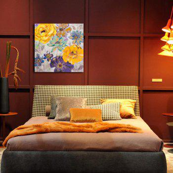 Happy Art Handed Top Grade Canvas Flower Oil Painting Wall - 24 X 24 INCH (60CM X 60CM) 24 X 24 INCH (60CM X 60CM)