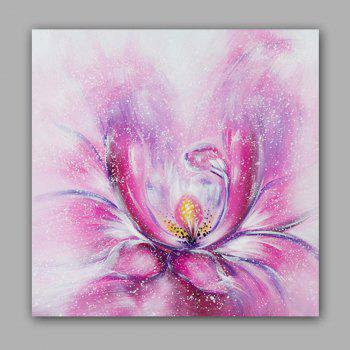 Happy Art Handed Top Grade Canvas Fashion Flower Oil Painting Wall - COLORMIX 24 X 24 INCH (60CM X 60CM)