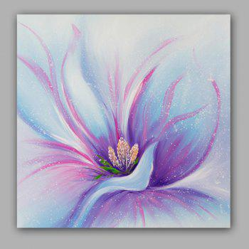 Happy Art Handed Top Grade Canvas Fashion Flower Oil Painting Wall Art - COLORMIX 23 X 23 INCH (60CM X 60CM)