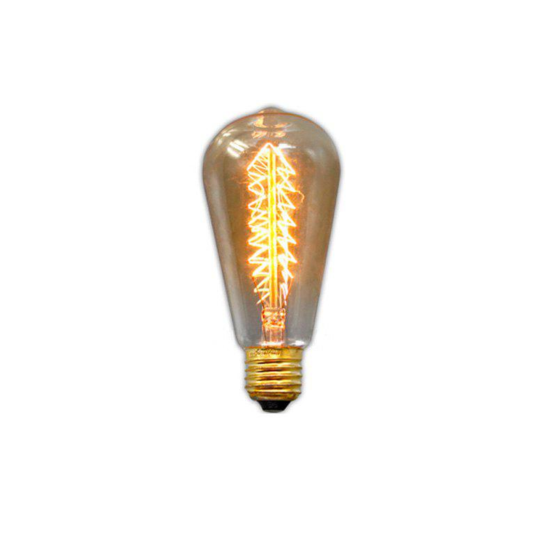 Everflower E27 40W St64 Enroulement Edison Rétro Ampoule Décorative - Transparent EU AC220-240