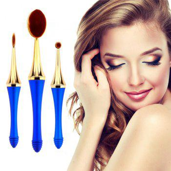 GANJOY-Three Pack Toothbrush Cosmetic Brush New High-End Touch Paint - BLUE BLUE