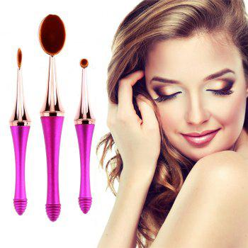 GANJOY-Three Pack Toothbrush Cosmetic Brush New High-End Touch Paint - ROSE GOLD ROSE GOLD