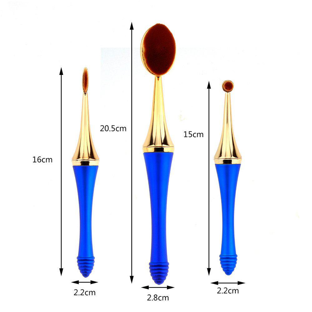 GANJOY-Three Pack Toothbrush Cosmetic Brush New High-End Touch Paint - BLUE