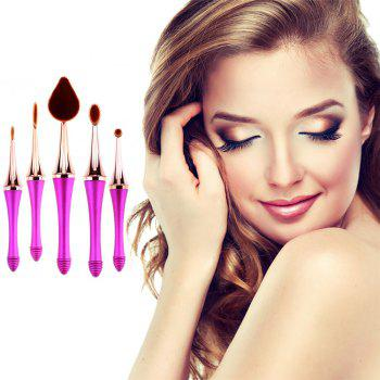 GANJOY-Five Pack Toothbrush Cosmetic Brush New High-End Touch Paint - ROSE GOLD ROSE GOLD