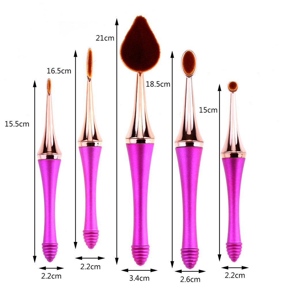 GANJOY-Five Pack Toothbrush Cosmetic Brush New High-End Touch Paint - ROSE GOLD