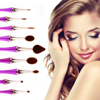 GANJOY- Nine Pack Toothbrush Cosmetic Brush New High-End Touch Paint - ROSE GOLD ROSE GOLD