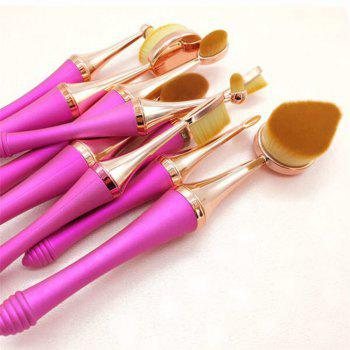 GANJOY- Nine Pack Toothbrush Cosmetic Brush New High-End Touch Paint -  BLUE/GOLDEN