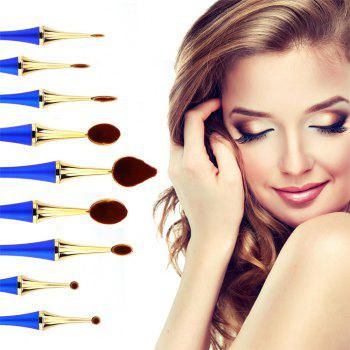 GANJOY- Nine Pack Toothbrush Cosmetic Brush New High-End Touch Paint - BLUE AND GOLDEN BLUE/GOLDEN