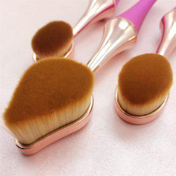 GANJOY- Nine Pack Toothbrush Cosmetic Brush New High-End Touch Paint -  ROSE GOLD
