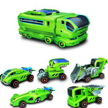 Maikou 7 in 1 Solar DIY Assembling Toys Space Educational Toy - GREEN GREEN