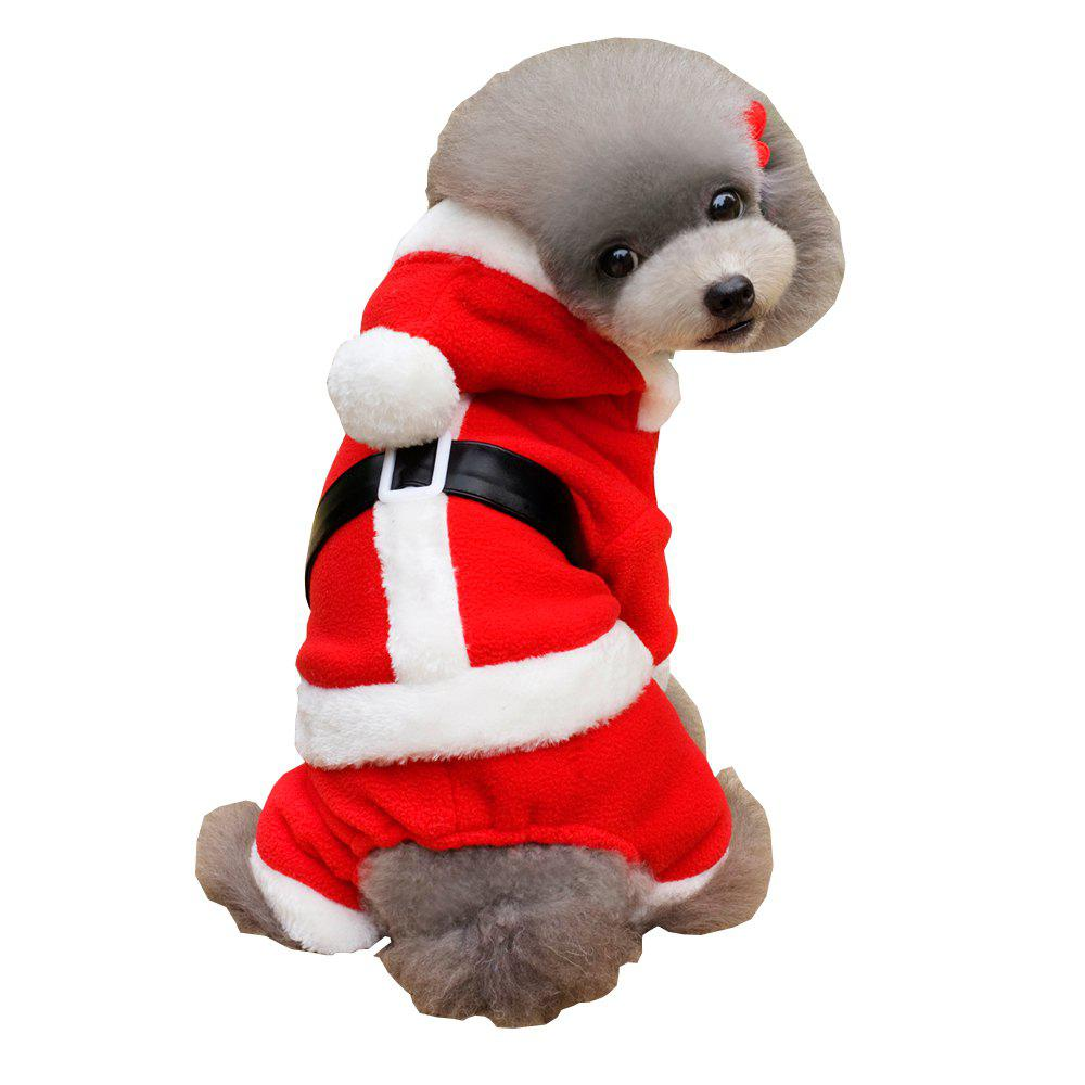 Lovoyager A1701 Winter Warm Fleece Dog Hoodies Coats Christmas Halloween Pet Costumes Dress Red Clothes машины veld co набор машинок 41624