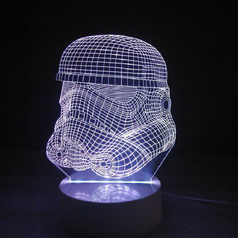 DSU Soldier Color Change 3D Visual  LED Table Night Light - RGB