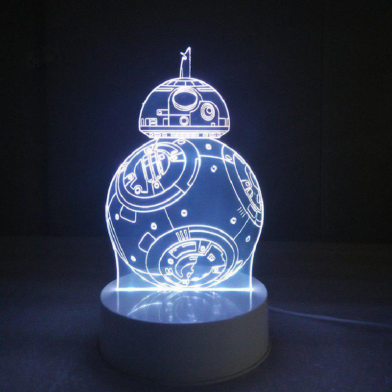DSU 3D Lamp Visual LED Table Night Light Robot Shape Multi Color 2 5x 5x 16x desktop multi functional welding led magnifier table lamp loupe soldering repair magnifying tool with led light
