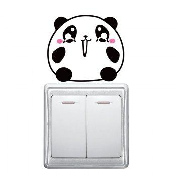 DSU Pink and Black Bear Surprise Expression Switch Sticker Wall Decor - BLACK/PINK BLACK/PINK