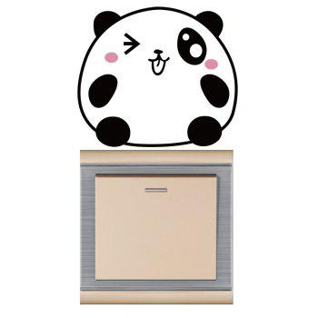 DSU Pink and Black Bear Lovely Tongue Switch Sticker Wall Decor - BLACK/PINK BLACK/PINK