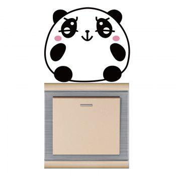 DSU Pink and Black Bear Smiling Face Switch Sticker Wall Decor - BLACK/PINK BLACK/PINK