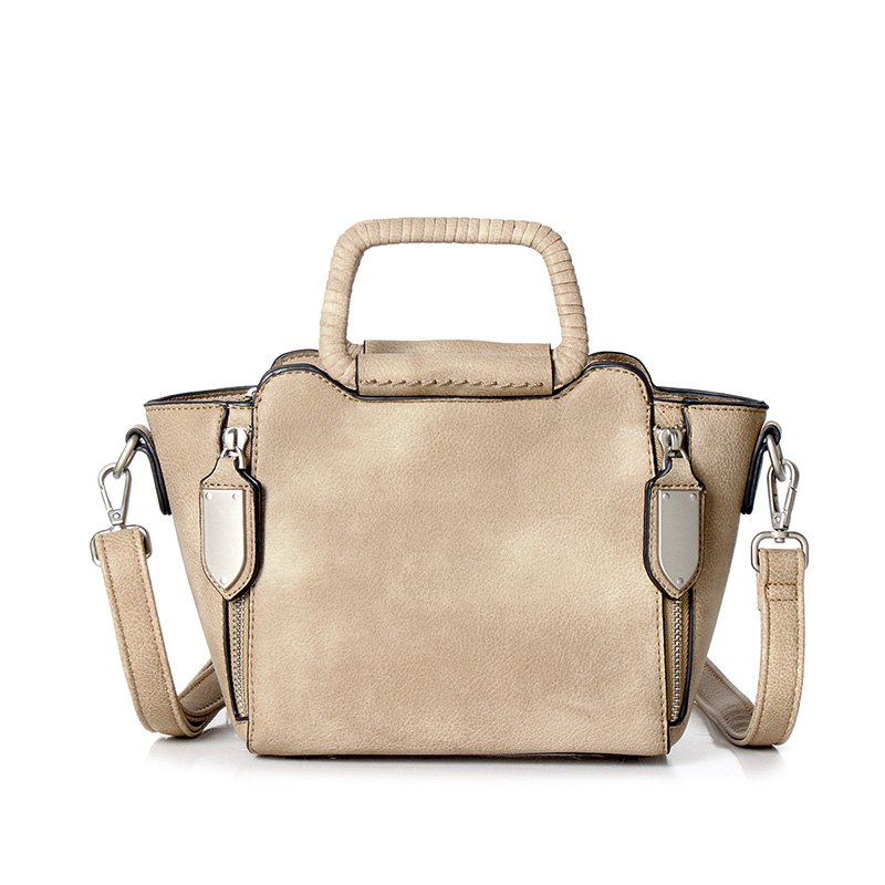 New Handbag Shoulder Bag Fashion Personality All-Match Woven Leather Hand Strap Popular Generous Bag - OYSTER HORIZONTAL