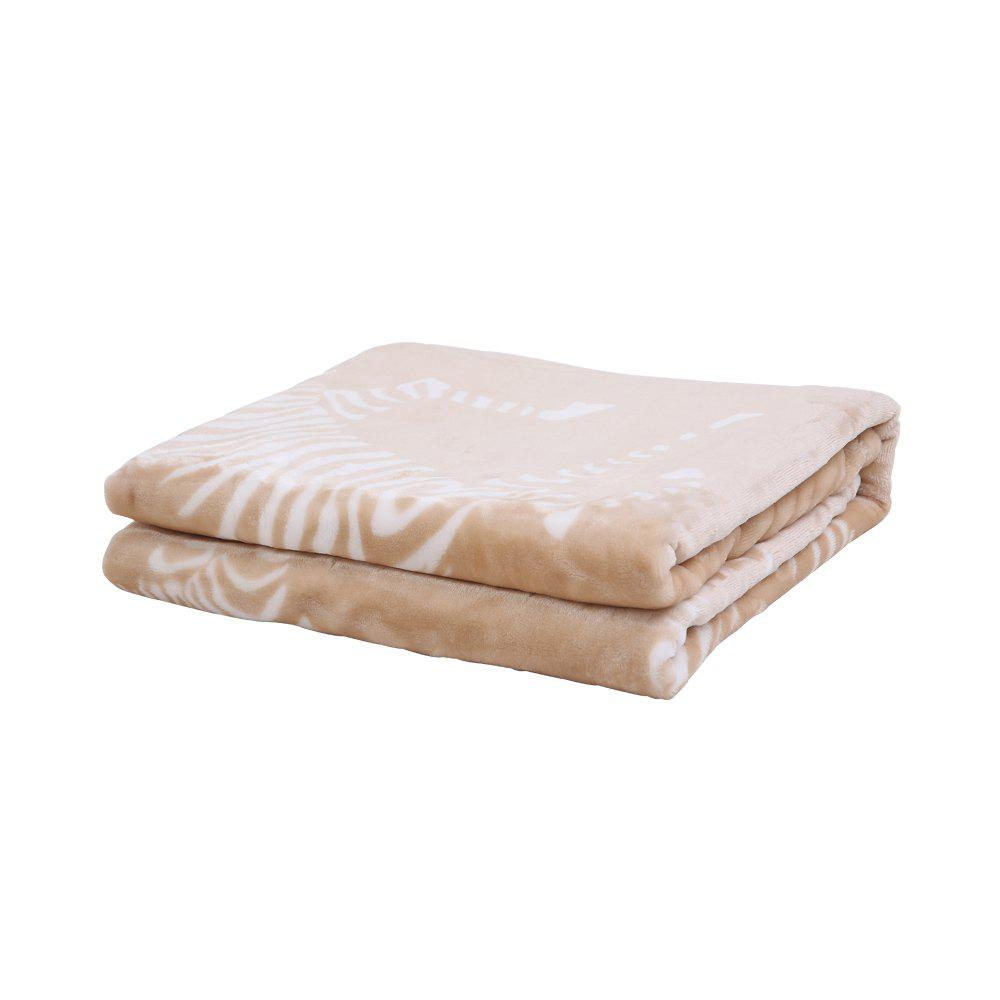IBaby Soft Baby Girls Boys Cozy Mink Blanket - LIGHT COFFEE W39INCH*L55INCH