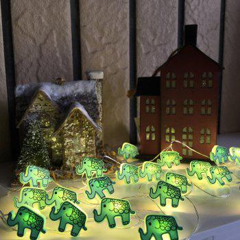 Elephant Shape String Lights for Patio Micro 2M 20-LED Timer Control Waterproof Battery Powered 5V - WARM WHITE LIGHT