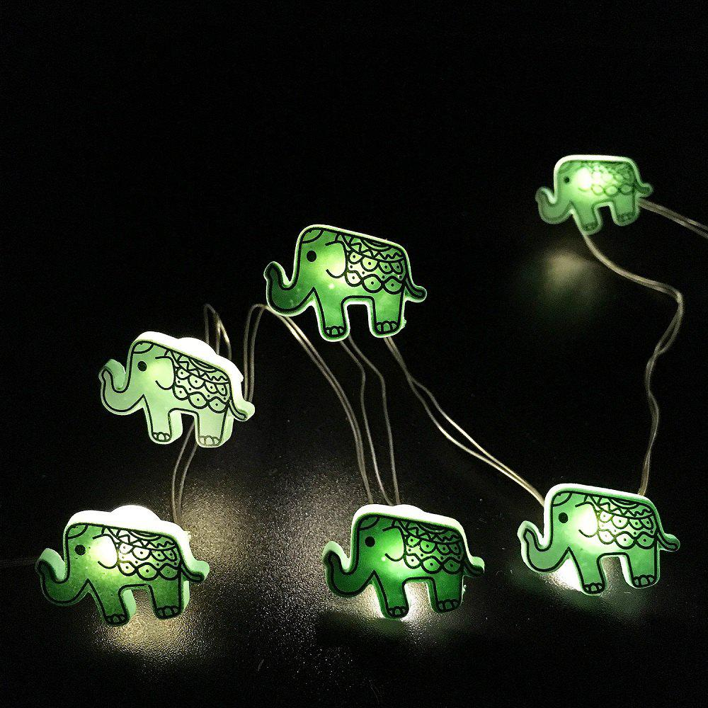 2017 Elephant Shape String Lights for Patio Micro 2M 20-LED Timer Control Waterproof Battery ...