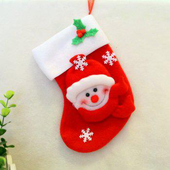 2pcs Snowman Gift Socks Knife and Fork Bag Christmas Tree Ornaments - RED