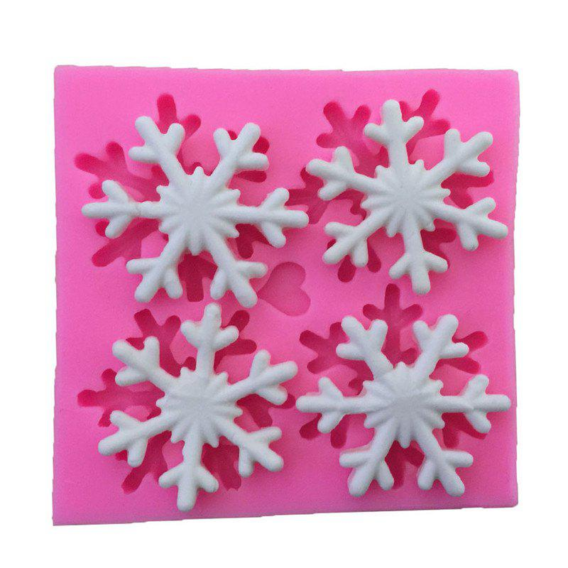 AY - XP137 Christmas Snowflake  Silicone Pattern Fondant Mold for Cake Decoration love heart alphabet letter silicone fondant cake decoration mold