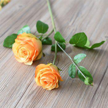 3 Head Silk Rose Home Decoration Artificial Flower 65CM - YELLOW YELLOW