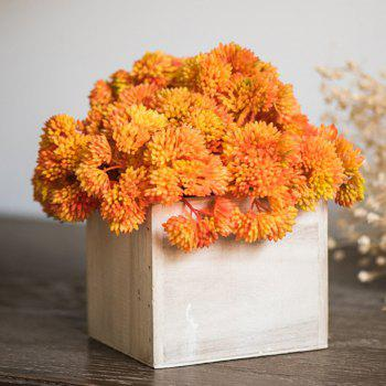 XM Broccoli Home Decoration Artificial Flower 34CM - ORANGE