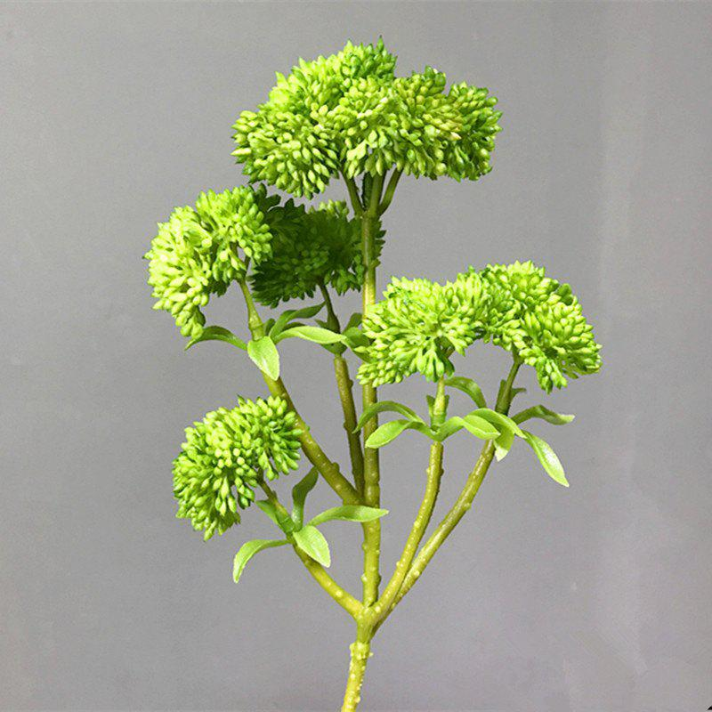 XM Broccoli Home Decoration Artificial Flower 34CM - GREEN