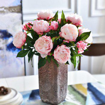 3 Heads European Style Peony Home Decoration Artificial Flower 50CM - PINK